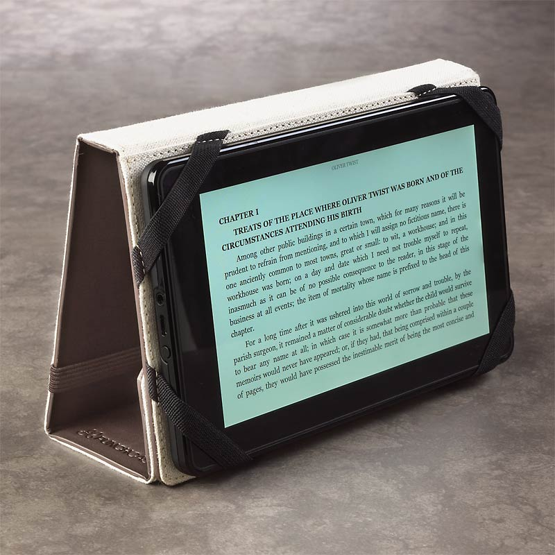 Levenger Kindle Fire Stand, Chocolate