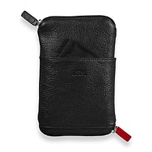 Double Zip Phone & Specs Case - Black W/Monogram