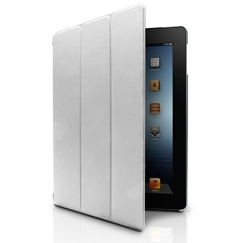 Microshell Folio Case for New iPad, Silver