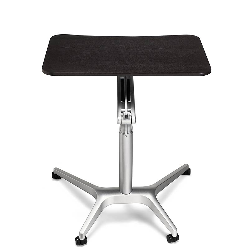 Sit-to-Stand Rolling Workstation, Black