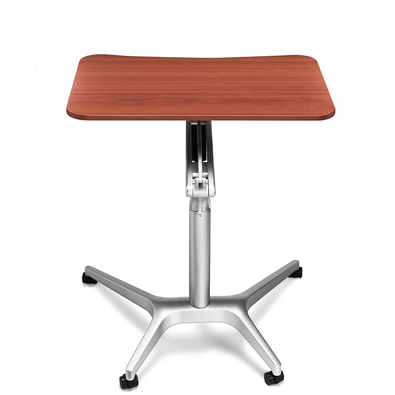 Sit-to-Stand Rolling Workstation, Natural Cherry