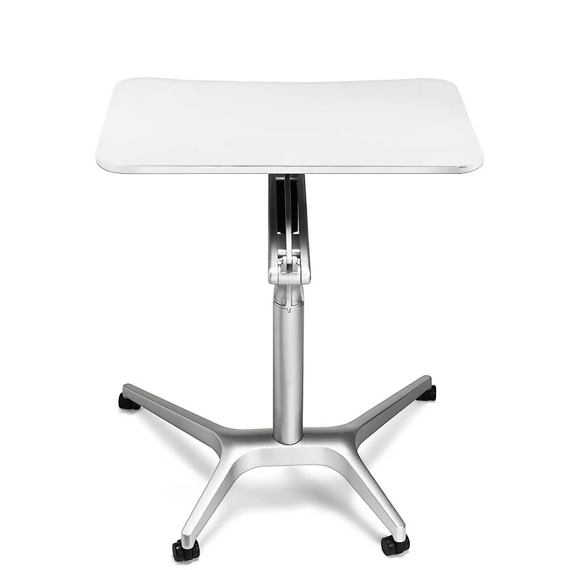 Sit-to-Stand Rolling Workstation, White