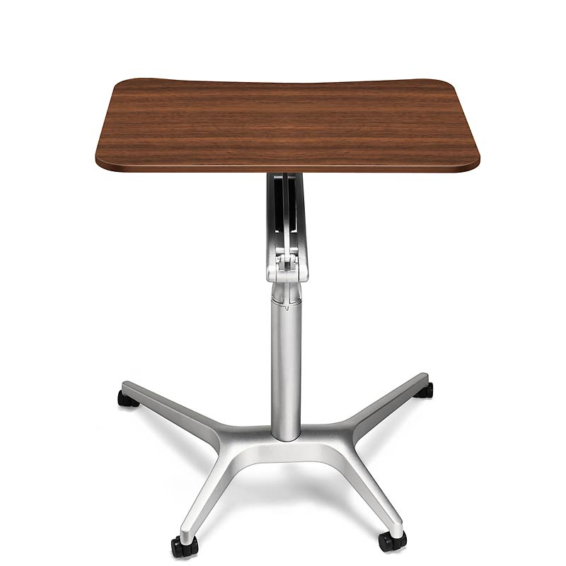 Sit-to-Stand Rolling Workstation, Walnut