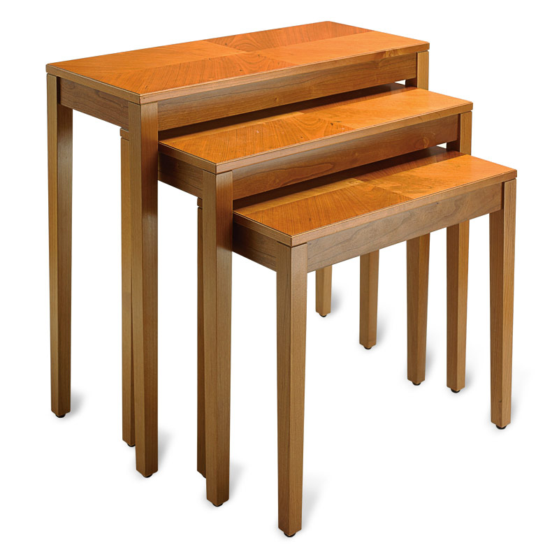 No-Room-for-a-Table™ Nesting Tables (Set of 3), Natural Cherry