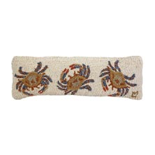 "Crab Dance 8"" x 24"" Hooked Pillow"