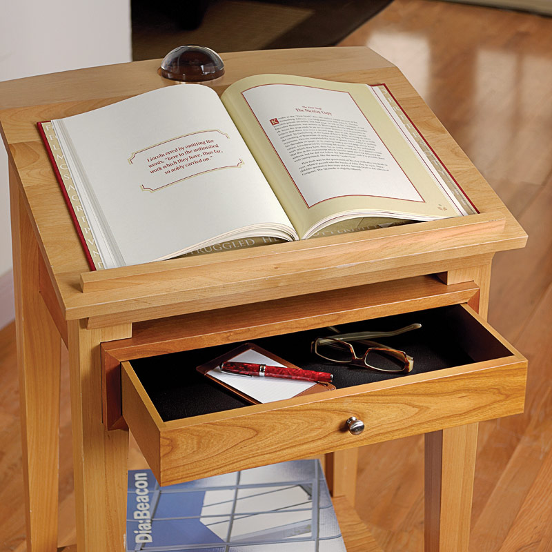 Franklin Library Stand Desk, Natural Cherry