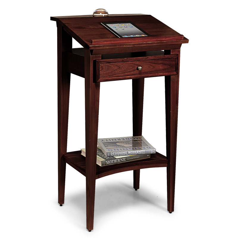 Franklin Library Stand Desk, Dark Cherry