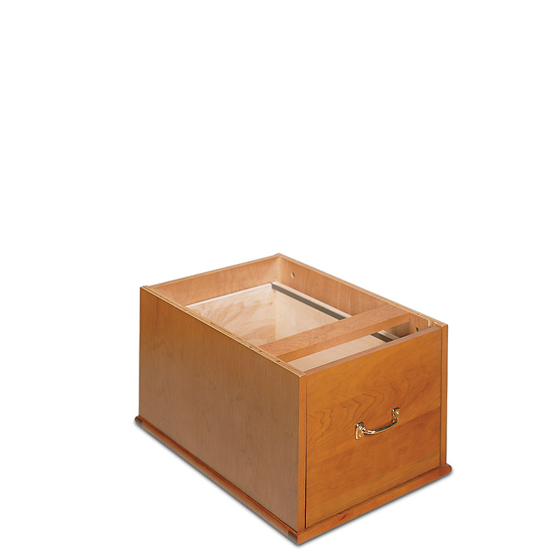 Stackable Vertical Drawer, Natural Cherry