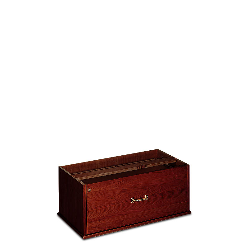 Stackable Lateral Drawer with Lock, Dark Cherry