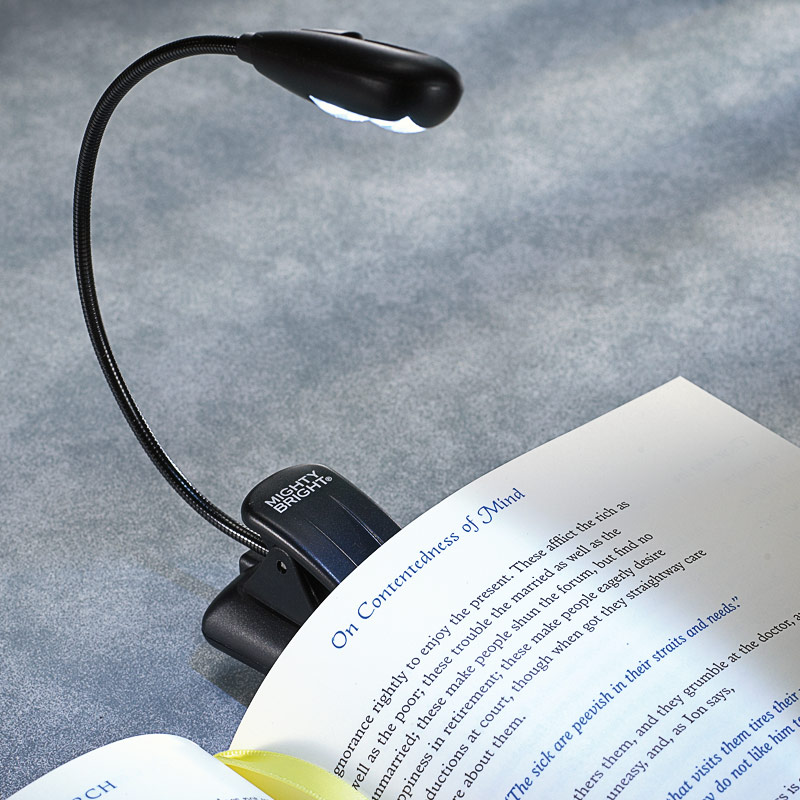 LED Flexible Neck Clip-On Booklight (single bulb)