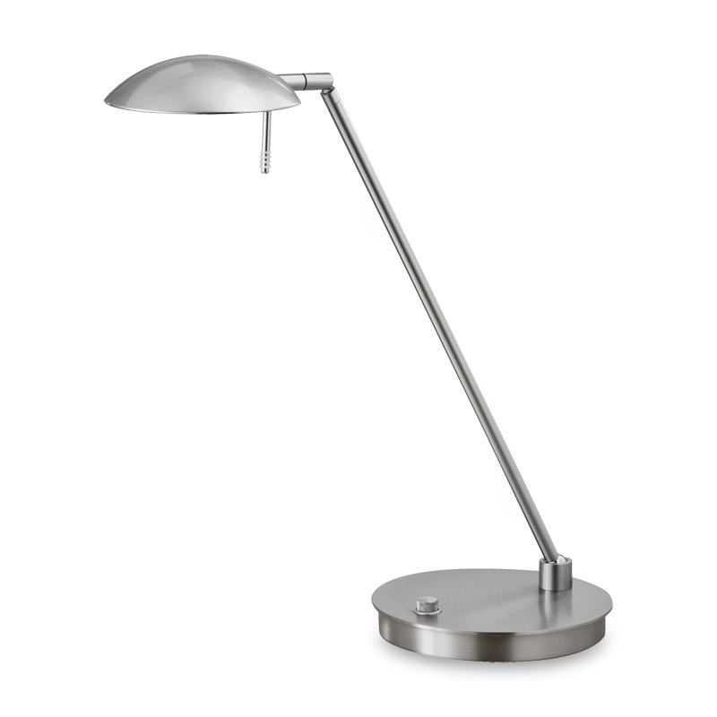 Bernie Turbo LED Table Lamp, Satin Nickel