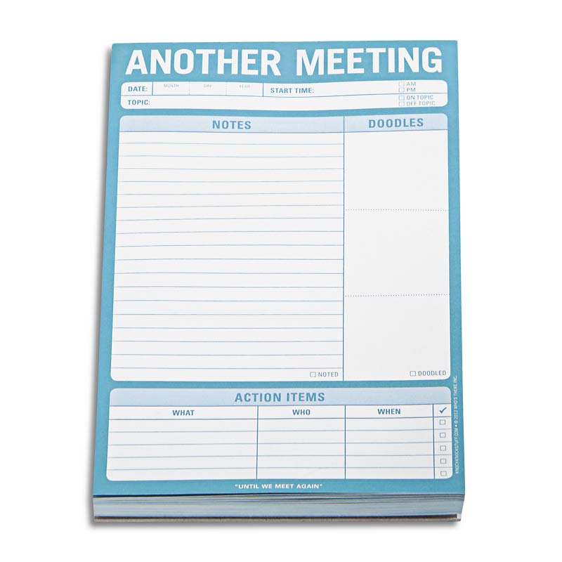 Conquer the Chaos-Another Meeting Note Pad