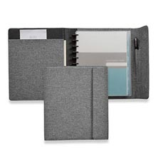 Circa® Bookcloth Flap Folio - Gray