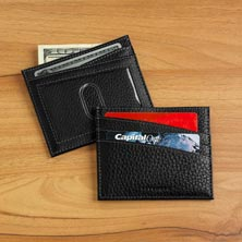 Bomber Jacket Front Pocket Wallet with RFID Protection - Black