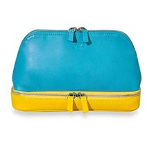 Duo Travel Pouch, Brights - Pool/Lemon