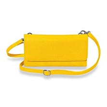Phone & File Clutch, Brights - Lemon