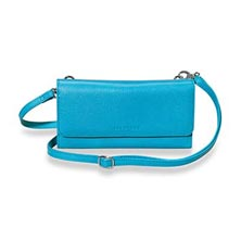 Phone & File Clutch, Brights - Pool