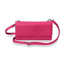 Phone & File Clutch, Brights - Raspberry