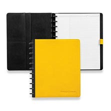 Circa® Leather Foldover Notebook, Brights - Lemon