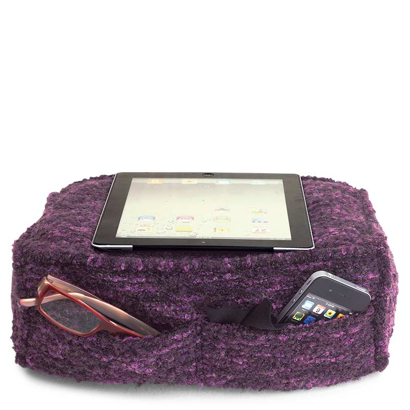 Boucle iPad Pillow, Purple