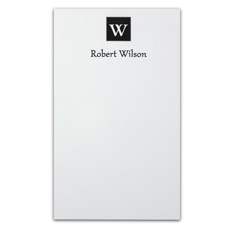 Insignia™ Personalized 3x5 Cards (set of 250), Black