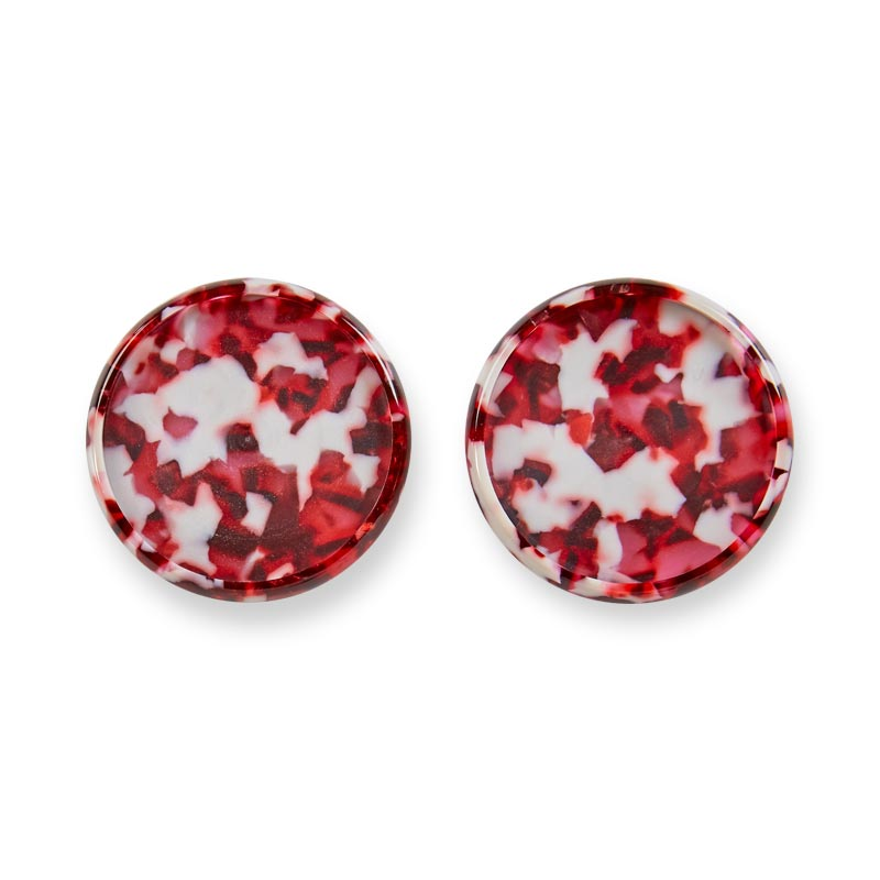 "Crushed Garnet Circa Discs, 1 1/2"" (set of 11)"