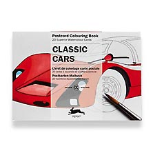 Classic Cars Postcard Colouring Book