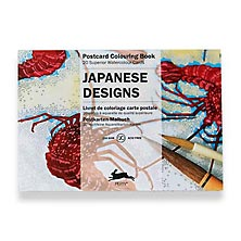 Japanese Designs Postcard Colouring Book