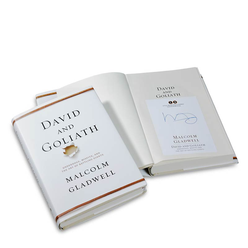 Signed 1st ed. David and Goliath
