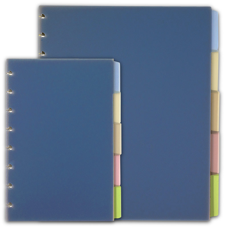 Circa Plastic Tab Dividers, Multicolored