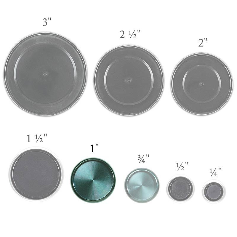 Aluminum Circa Discs, 1 inch (set of 11), Teal