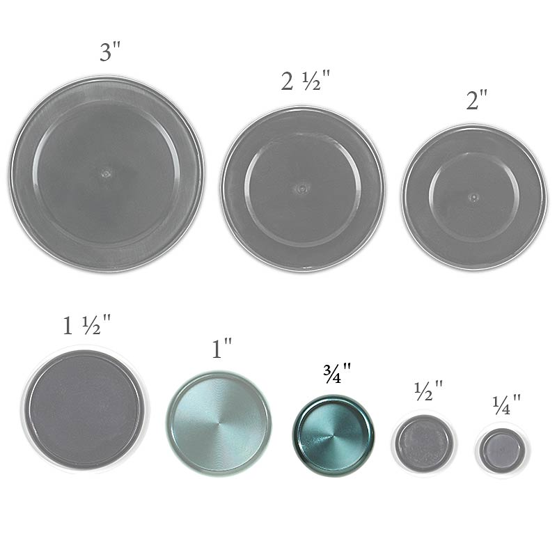 Aluminum Circa Discs, 3/4 inch (Set of 11), Teal