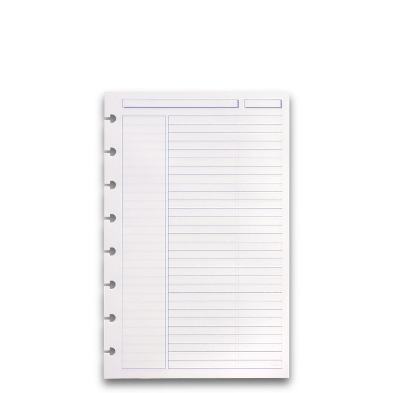 300 Circa Rhodia Annotation Ruled Refill Sheets, Junior