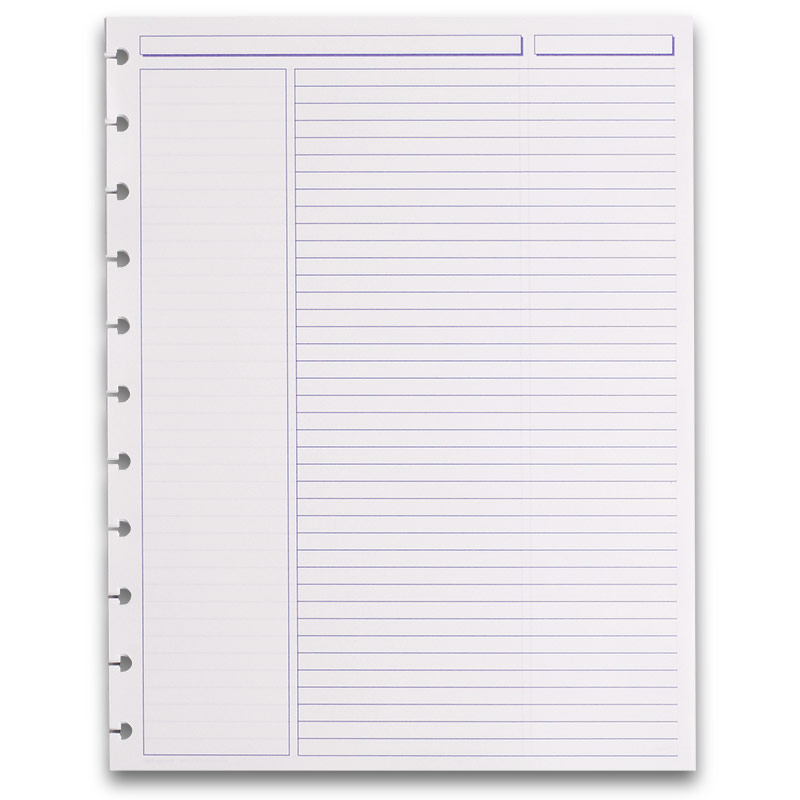 300 Circa Rhodia Annotation Ruled Refill Sheets, Letter