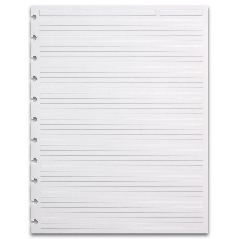 300 Circa Full-Page Ruled Refill Sheets, Letter