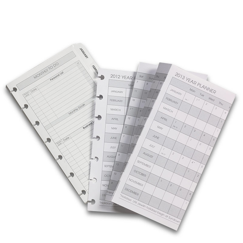 2012 Circa Monthly Tabs & Pullout Calendar, Compact