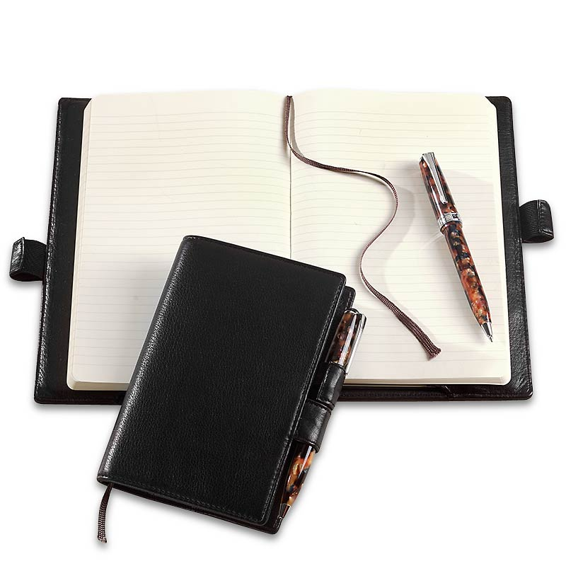 Levenger Soul Skin™ with Moleskine Notebook and Kyoto Pen