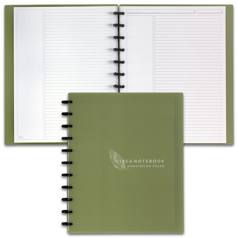 Circa Recycled Annotation Ruled Notebook, Letter