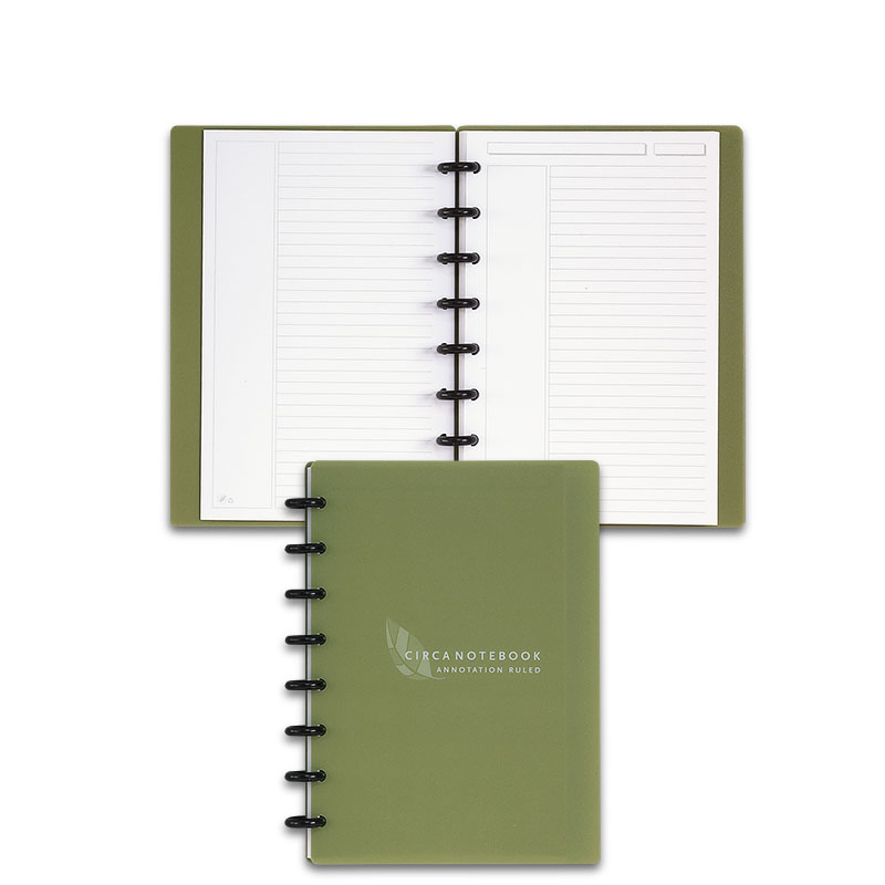 Circa Recycled Annotation Ruled Notebook, Junior