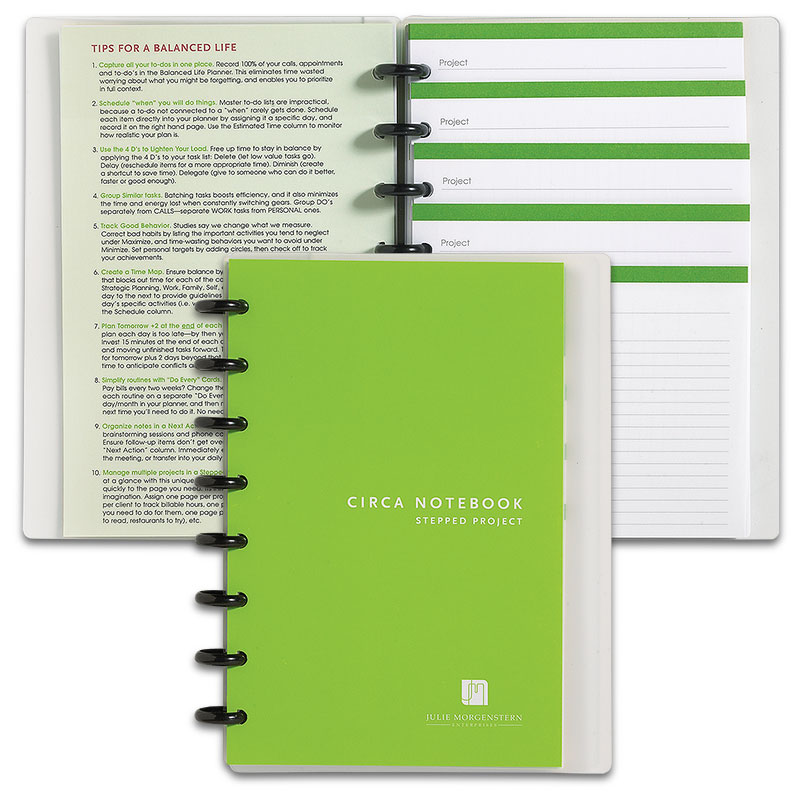 Circa Balanced Life Stepped Project Notebook, Junior