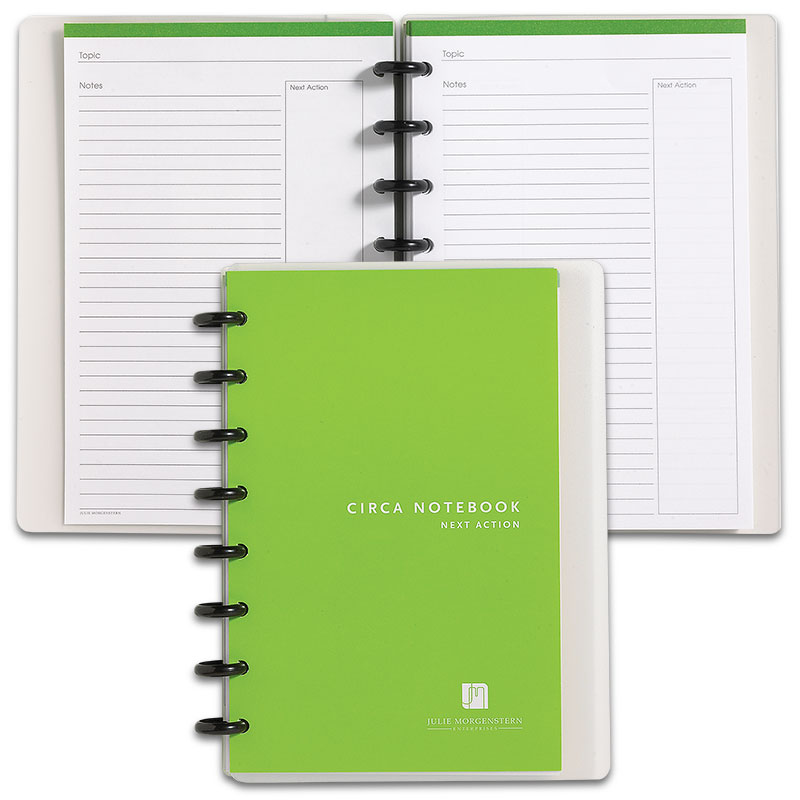 Circa Balanced Life Next Action Notebook, Junior
