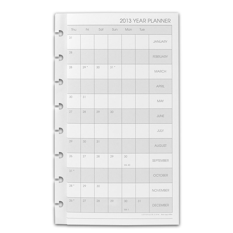 2013 Circa monthly tabs and pullout calender junior