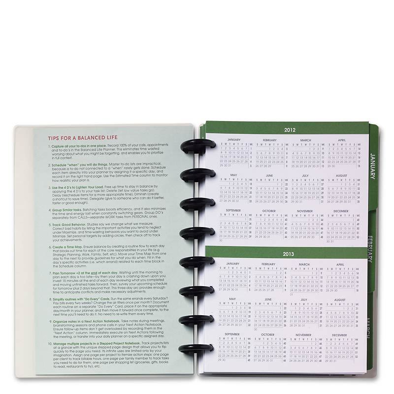 Circa Balanced Life 2013 Daily Planner, Junior (entire year)