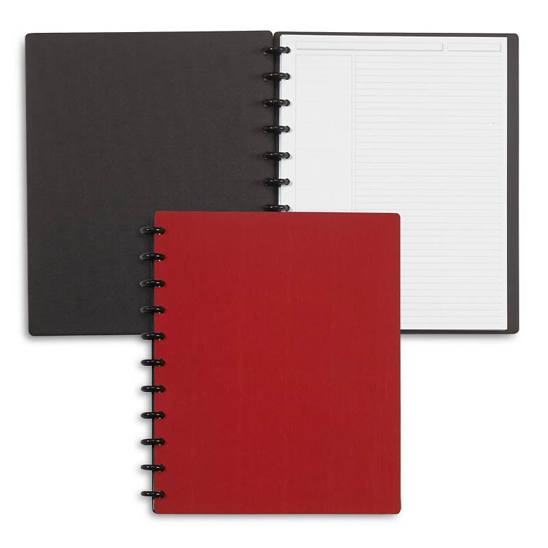 Circa Sliver Foldover Notebook, Red Letter