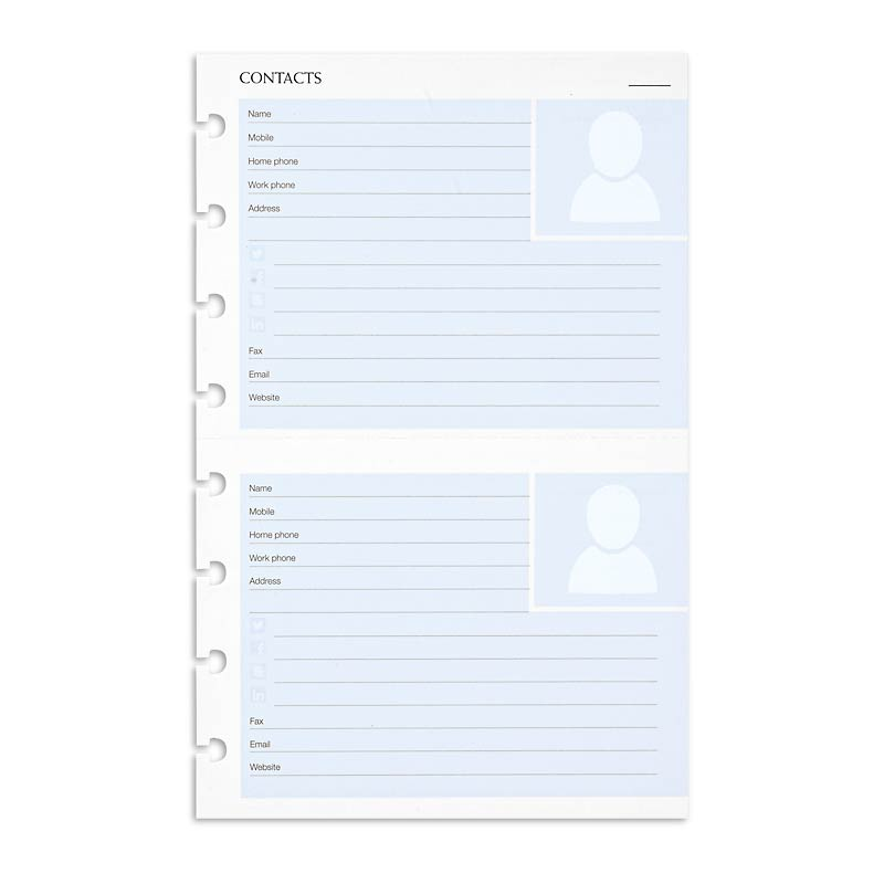 Circa smartPlanner Contacts (Set of 2)