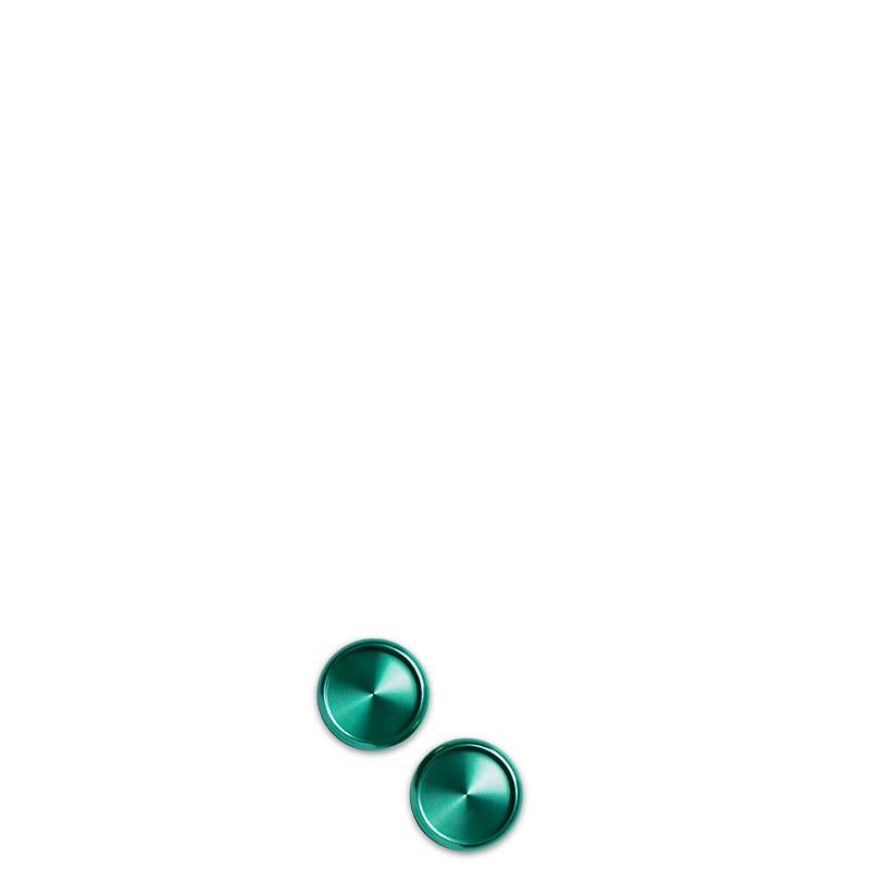 Aluminum Circa Disc 3/4  (Set of 11) - Emerald
