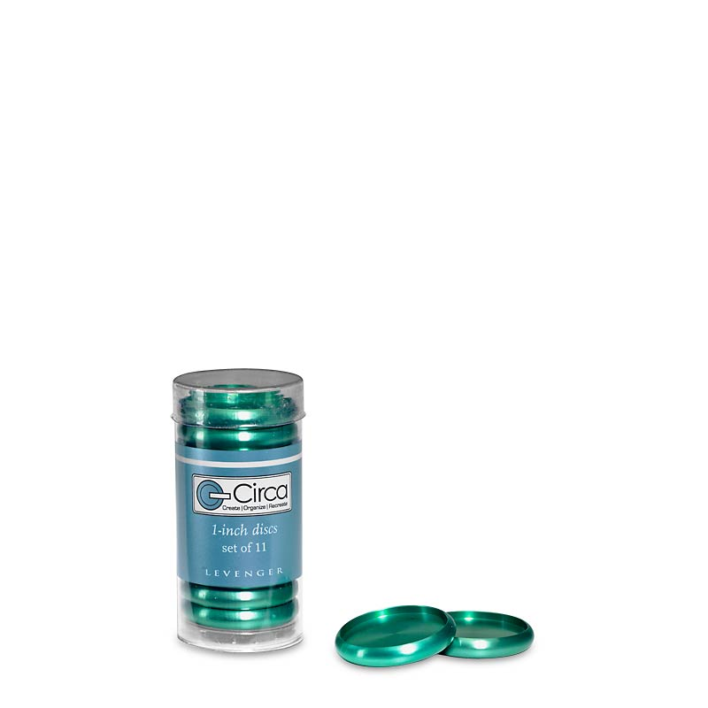 Aluminum Circa Disc 1  (Set of 11) - Emerald