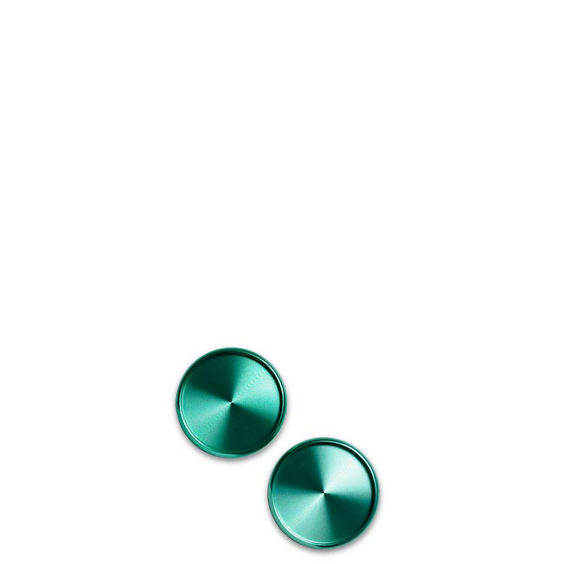 Aluminum Circa Disc 1 1/2  (Set of 11) - Emerald