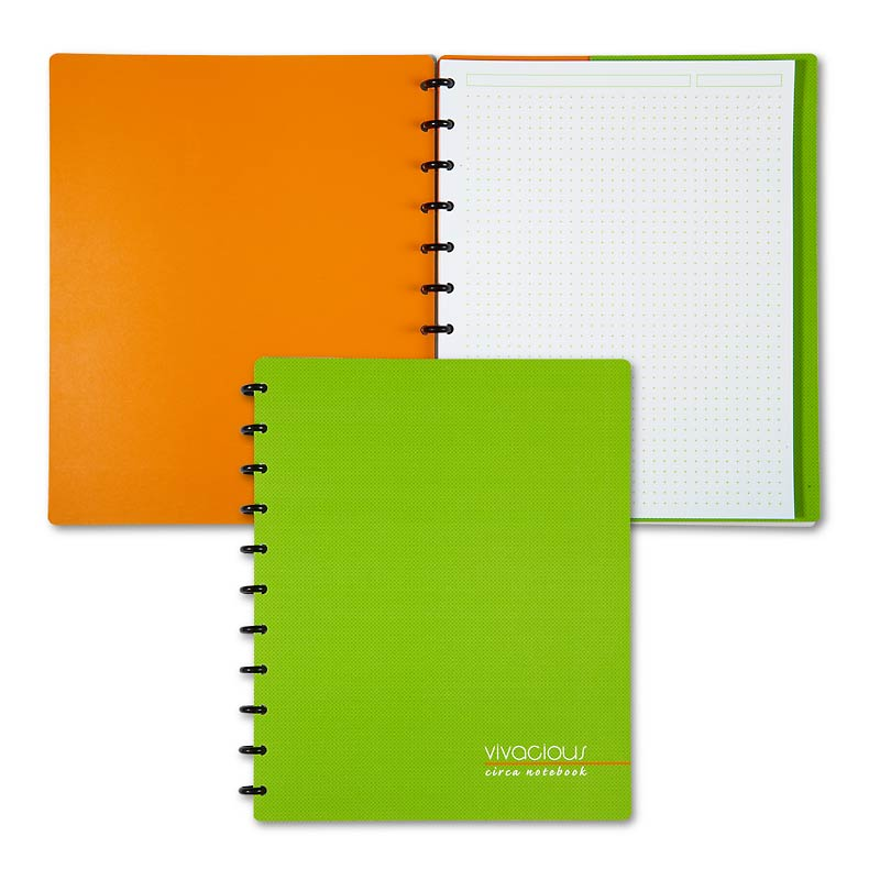 Circa Vivacious Notebook Cross Dots, Letter