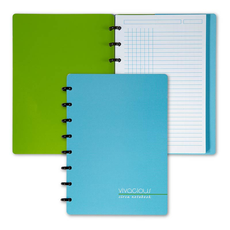 Circa Vivacious Notebook Grid/Ruled, Junior